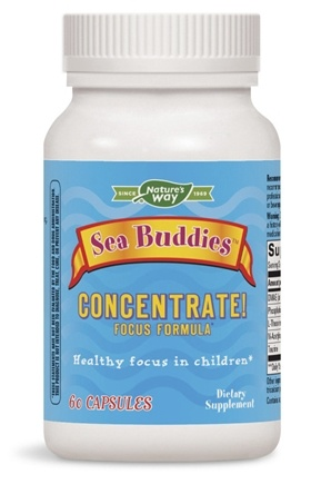Enzymatic Therapy - Sea Buddies Concentrate Focus Formula - 60 Capsules