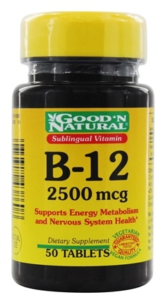 DROPPED: Good 'N Natural - Sublingual Vitamin B12 2500 mcg. - 50 Tablets