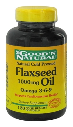 DROPPED: Good 'N Natural - Flaxseed Oil 1000 mg. - 120 Softgels