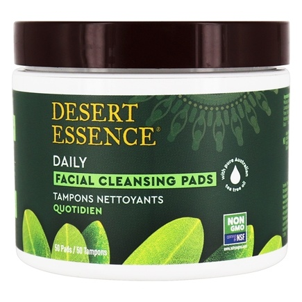 Desert Essence - Natural Facial Cleansing Pads with Tea Tree Oil - 50 Pad(s) LUCKY PRICE