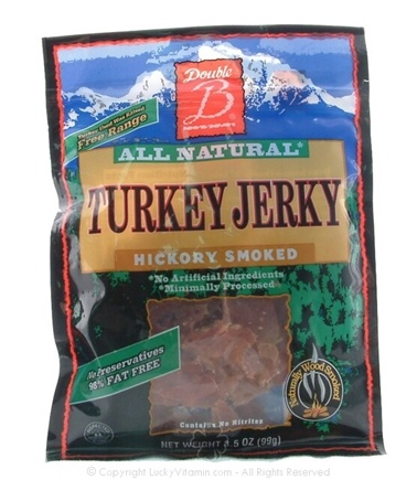 DROPPED: Double & Foods - Turkey Jerky Hickory Smoked Hickory Smoked - 3.5 oz.