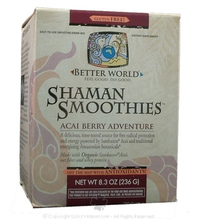 DROPPED: Enzymatic Therapy - Better World Shaman Smoothies Acai Berry Adventure Flavor - 8.3 oz.