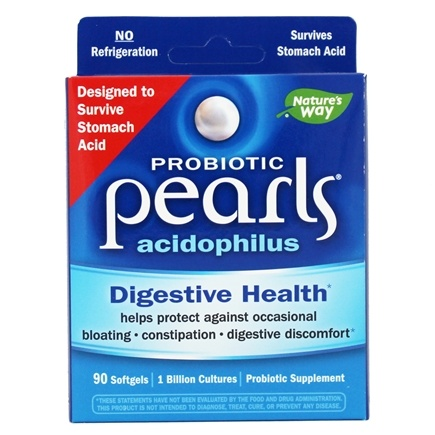 Enzymatic Therapy - Acidophilus Pearls Active Cultures - 90 Capsules