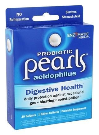 DROPPED: Enzymatic Therapy - Acidophilus Pearls Active Cultures - 30 Capsules