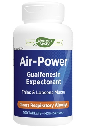Enzymatic Therapy - Air-Power Guaifenesin Expectorant - 100 Tablets