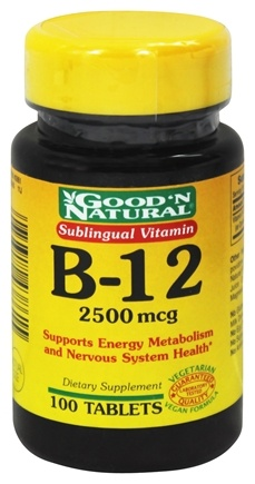DROPPED: Good 'N Natural - Sublingual Vitamin B12 2500 mcg. - 100 Tablets