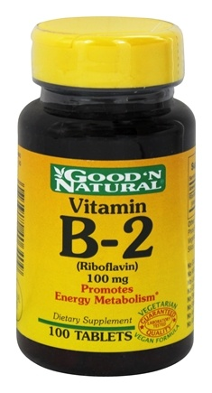 DROPPED: Good 'N Natural - Vitamin B2 Riboflavin 100 mg. - 100 Tablets