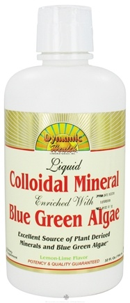 DROPPED: Dynamic Health - Liquid Colloidal Mineral Enriched with Blue-Green Algae Lemon-Lime - 32 oz.