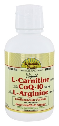 Zoom View - Liquid L-Carnitine 1000 Mg with CoQ-10 25 Mg plus L-Arginine 1000Mg