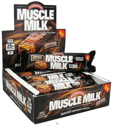 DROPPED: Cytosport - Muscle Milk Bars Chocolate Peanut Caramel - 2.57 oz. CLEARANCE PRICED