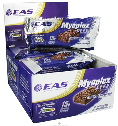 DROPPED: EAS - Myoplex Lite Protein Bar Chocolate Chocolate Chip Crisp - 1.9 oz. CLEARANCE PRICED