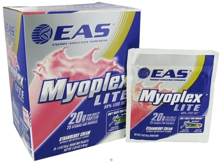 DROPPED: EAS - Myoplex Lite Powder Strawberry Cream - 20 Packet(s)