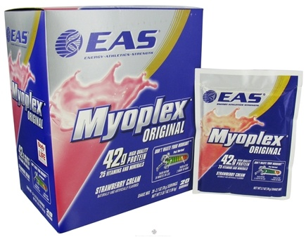 DROPPED: EAS - Myoplex Original Powder Strawberry Cream - 20 Packet(s)