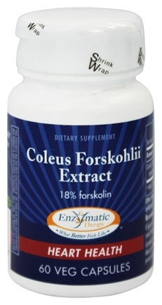 Enzymatic Therapy - Coleus Forskohlii Extract Forskolin - 60 Vegetarian Capsules