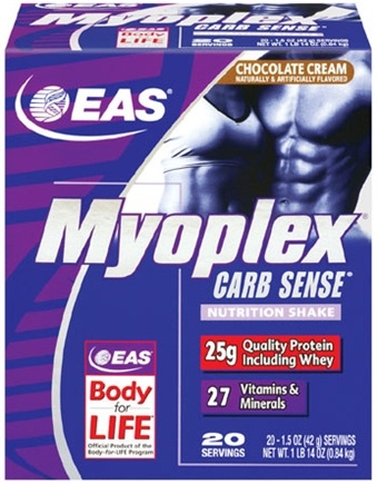 DROPPED: EAS - Myoplex Carb Sense Powder Chocolate Cream - 20 Packet(s)