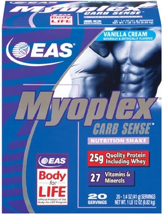 DROPPED: EAS - Myoplex Carb Sense Powder CLEARANCE PRICED Vanilla Cream - 20 Packet(s)