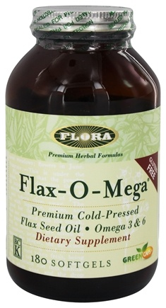 Zoom View - Flax-O-Mega Flaxseed Oil Premium Cold-Pressed