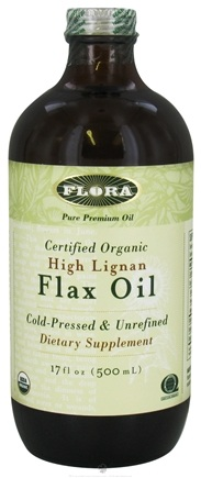DROPPED: Flora - High Lignan Flax Oil Certified Organic - 17 oz. CLEARANCE PRICED