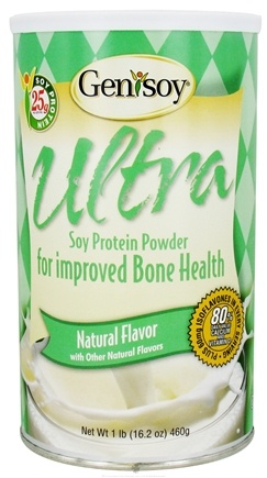 DROPPED: Genisoy - Ultra Soy Protein Powder For Improved Bone Health Natural Flavor - 16.2 oz.