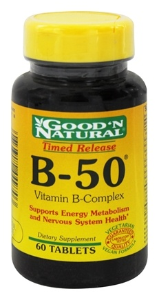 DROPPED: Good 'N Natural - B-50 Time Release Complex - 60 Tablets