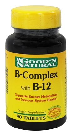 DROPPED: Good 'N Natural - B Complex and B12 - 90 Tablets