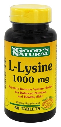 DROPPED: Good 'N Natural - L-Lysine 1000 mg. - 60 Tablets
