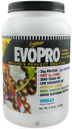 DROPPED: Cytosport - EvoPro Low Carb Diet Perfect Protein Vanilla - 2.25 lbs.