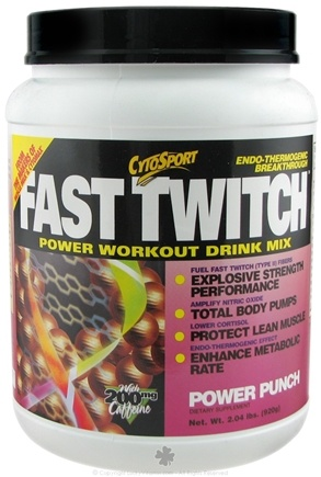 DROPPED: Cytosport - Fast Twitch Power Workout Drink Mix Power Punch - 2 lbs. CLEARANCE PRICED