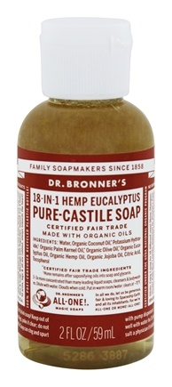 Dr. Bronners - Magic Pure-Castile Soap Organic Eucalyptus - 2 oz.