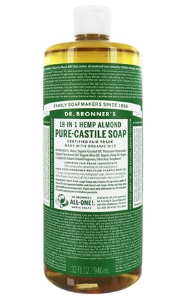 Dr. Bronners - Magic Pure-Castile Soap Organic Almond - 32 oz.