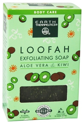 Earth Therapeutics - Loofah Exfoliating Soap Aloe & Kiwi - 4 oz.