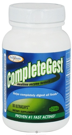 DROPPED: Enzymatic Therapy - CompleteGest Mealtime Enzyme Formula - 90 Ultracap(s) CLEARANCE PRICED
