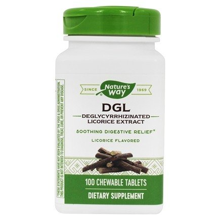 Enzymatic Therapy - DGL Original - 100 Chewable Tablets