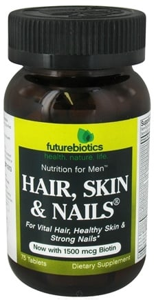 DROPPED: Futurebiotics - Hair Skin & Nails For Men - 75 Tablets CLEARANCE PRICED
