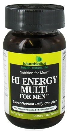 DROPPED: Futurebiotics - Hi Energy Multivitamin For Men - 60 Tablets with Oat Straw Extract