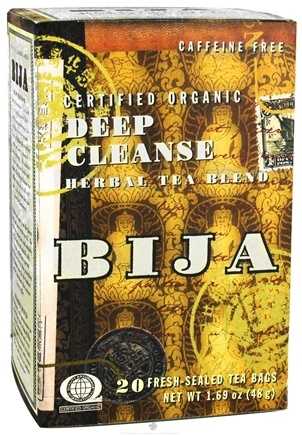 DROPPED: Flora - Bija Deep Cleanse Herbal Tea Certified Organic Caffeine Free - 20 Tea Bags
