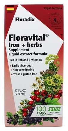 Flora - Floravital Iron & Herbs Yeast Free - 17 oz.