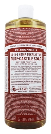 Dr. Bronners - Magic Pure-Castile Soap Organic Eucalyptus - 32 oz.