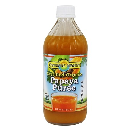 Dynamic Health - Organic Natural Puree Papaya - 16 fl. oz.