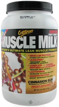 DROPPED: Cytosport - Muscle Milk Ultimate Lean Muscle Formula Cinnamon Bun - 2.48 lbs. CLEARANCE PRICED