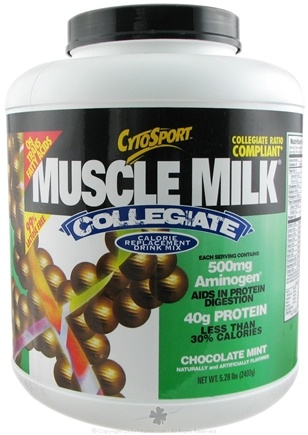 Zoom View - Muscle Milk Collegiate Calorie Replacement Drink Mix