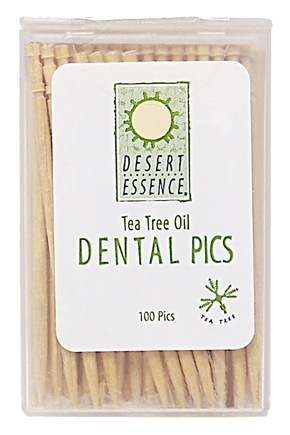 DROPPED: Desert Essence - Tea Tree Oil Dental Picks - 100 Piece(s) CLEARANCE PRICED