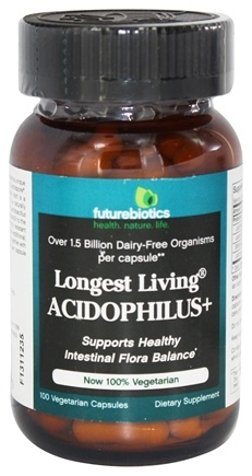 DROPPED: Futurebiotics - Longest Living Acidophilus + - 100 Vegetarian Capsules
