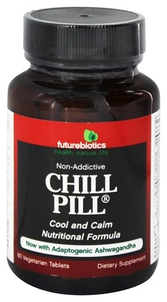 DROPPED: Futurebiotics - Chill Pill Non-Addictive Cool & Calm Nutritional Formula - 60 Vegetarian Tablets