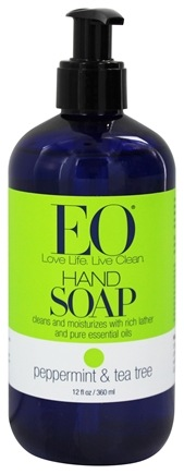 EO Products - Hand Soap Peppermint & Tea Tree - 12 oz.