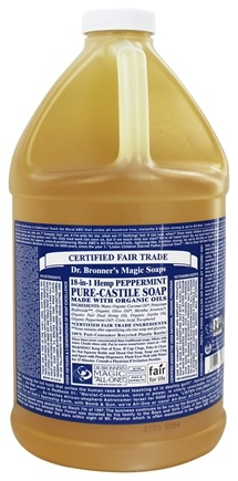 Dr. Bronners - Magic Pure-Castile Soap Organic Peppermint - 64 oz.