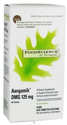 DROPPED: FoodScience of Vermont - Aangamik DMG 125 mg. - 60 Vegetarian Tablets CLEARANCE PRICED