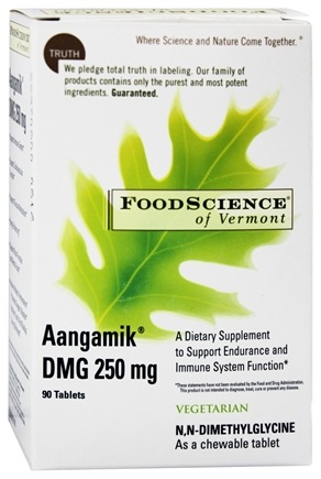 DROPPED: FoodScience of Vermont - Aangamik DMG 250 mg. - 90 Chewable Tablets
