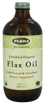 DROPPED: Flora - Flax Oil Certified Organic - 17 oz. CLEARANCE PRICED