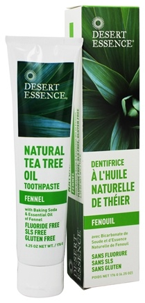 Desert Essence - Toothpaste Natural Tea Tree Oil With Baking Soda Fennel - 6.25 oz. LUCKY PRICE